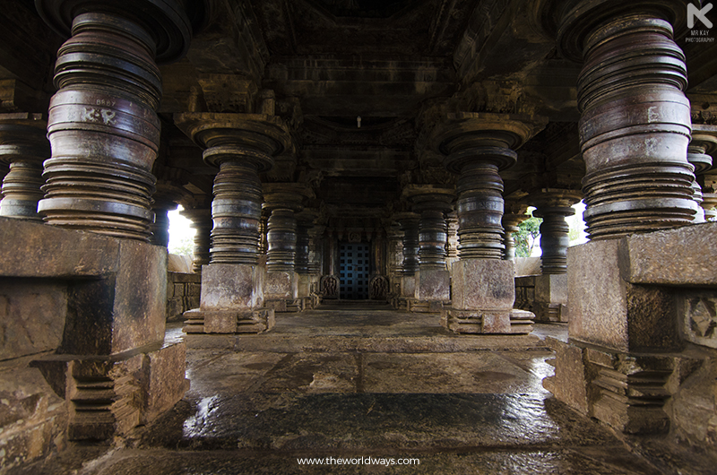 The Shining Pillars of Veera Narayana Temple, Belavadi - the place where Bheema killed the demon Bakasura
