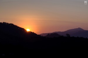 Sunrise at Raja's Seat, Coorg.