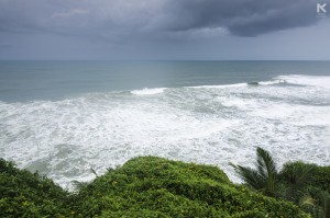 The sea view from Varkala Cliff