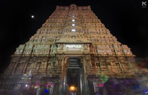 Long Exposure shot of Kasi Vishwanathar Temple, Tenkasi