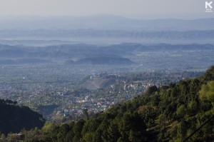 View of Dharamsala and Cricket Stadium from Mcleodganj