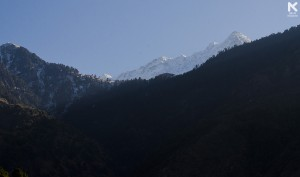 View of Triund and a small portion of Dhauladhar Range that spans from Indrahar Pass to Moon Peak