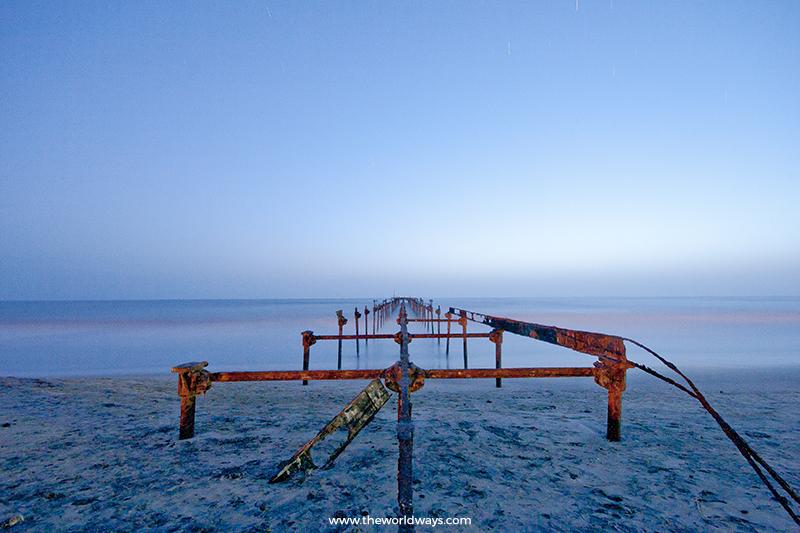 Ancient Pier at Alappuzha Beach, Kerala
