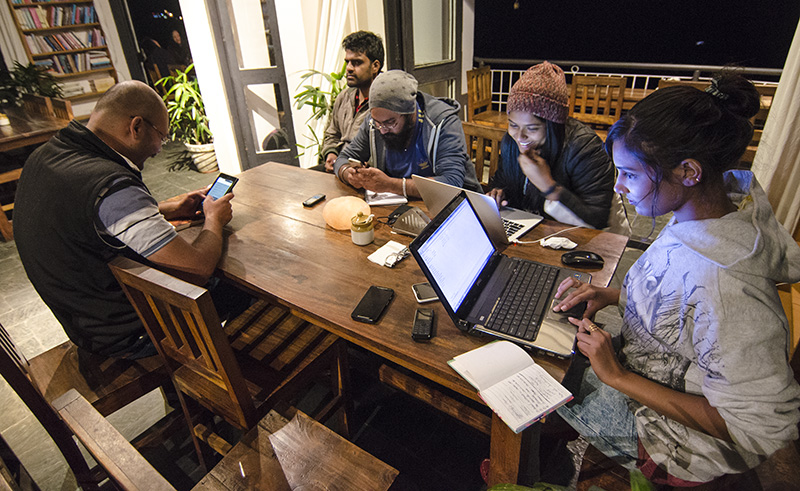 An evening Illiterati Cafe, Mcleod Ganj