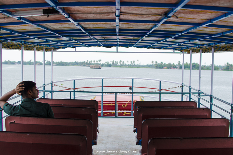The Upper Deck of See Kuttanad Boat Service by SWTD