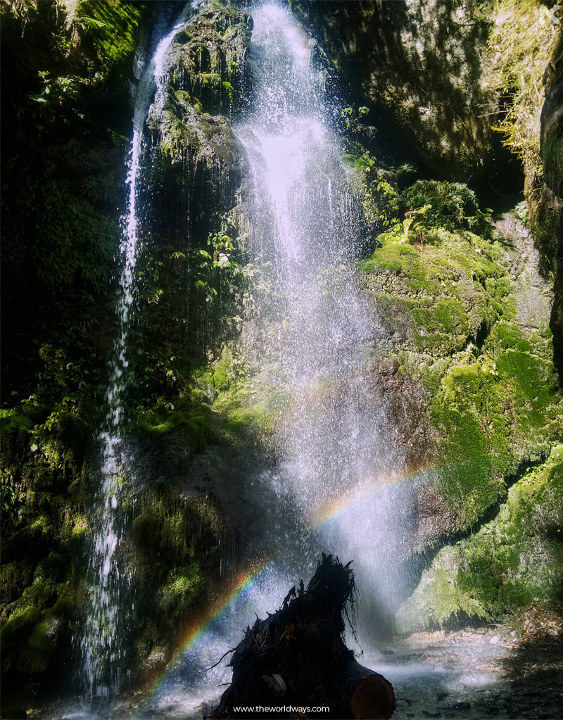 The Daily Rainbow at a Waterfall near Jibhi Camp
