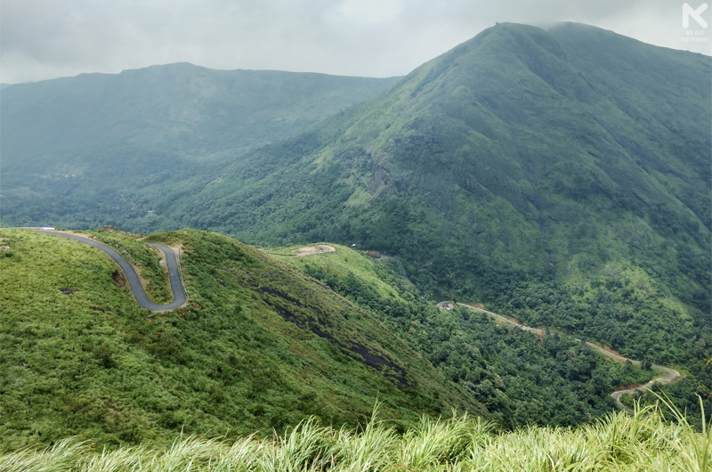The Winding Road to Illikkal Kallu from Erattupetta