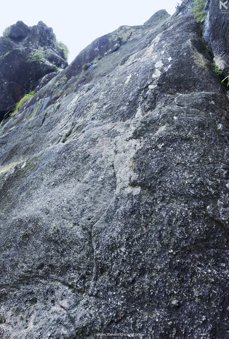 The rock to climb before crossing Narakappalam at Illikkal Kallu in Kottayam