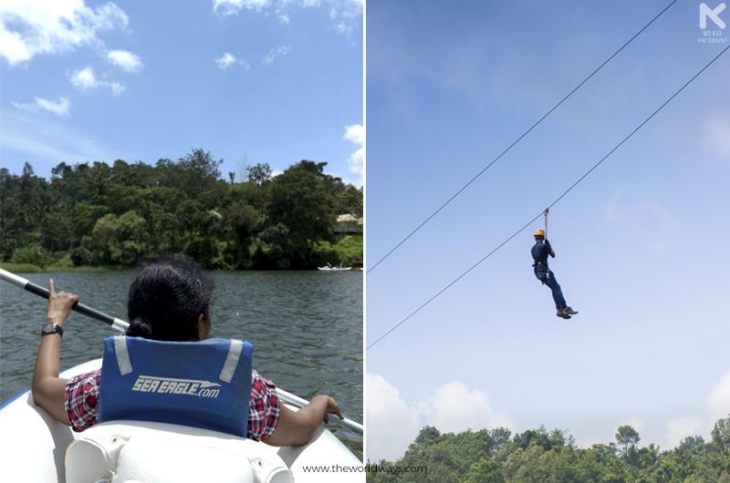 Kayaking and Ziplining at Karlad Lake in Wayanad