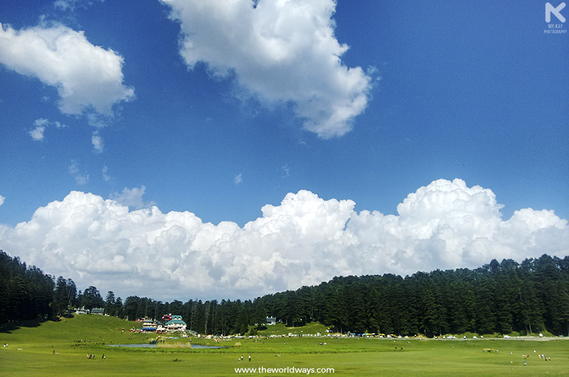 Khajjiar at Dalhousie located in Chamba district of Himachal Pradesh