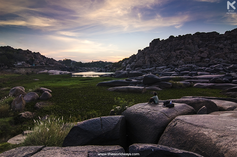 A beautiful Sunset from the banks of Tungabhadra river
