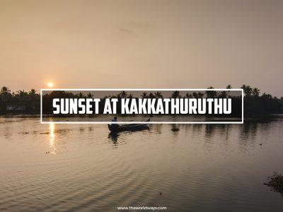 Sunset At Kakkathuruthu