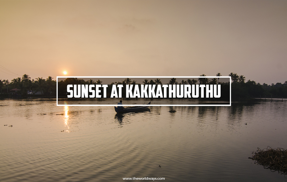 Sunset At Kakkathuruthu