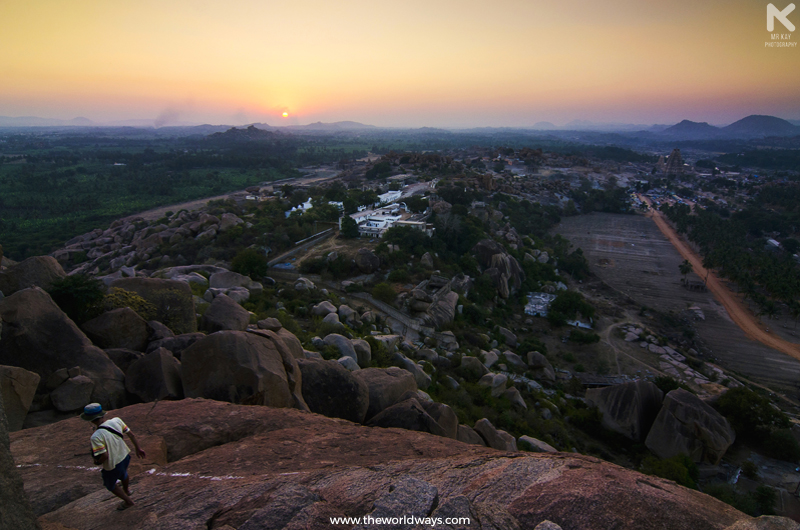 Sunset View From the Top of Matunga Hills at Hampi