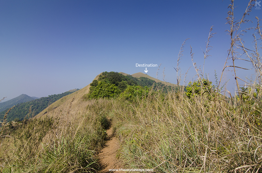 A distant view of Ranipuram during the trek