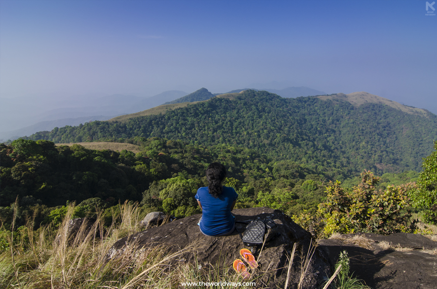 View of mountain ranges from Ranipuram